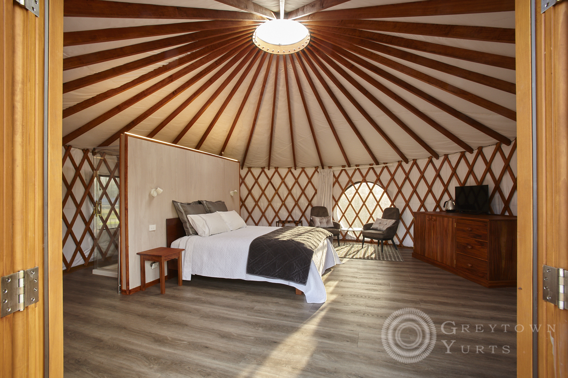 commercial photography of luxury accommodation in Greytown Wairarapa NZ, Greytown Yurts