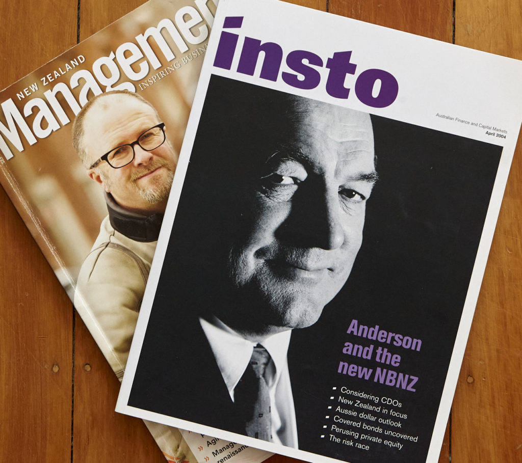 "2004 - our last commercial shoot on film was Sir John Anderson the then chairman of the National Bank of New Zealand. Fast forward a decade, the NBNZ is since absorbed into ANZ and TradeMe's Mike ""Mod's Motors"" O'Donnell operates in a fully online world. How will print publications look in 2024?"